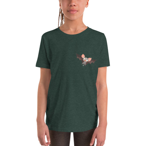 Scaredy Bat Youth Short Sleeve T-Shirt