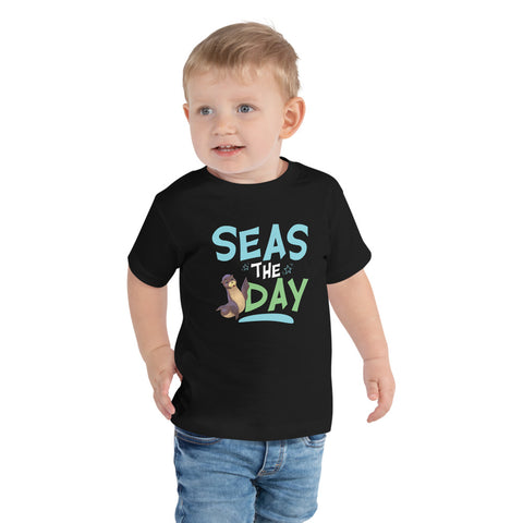Seas the Day2 Toddler Short Sleeve T-Shirt - Code Pineapple