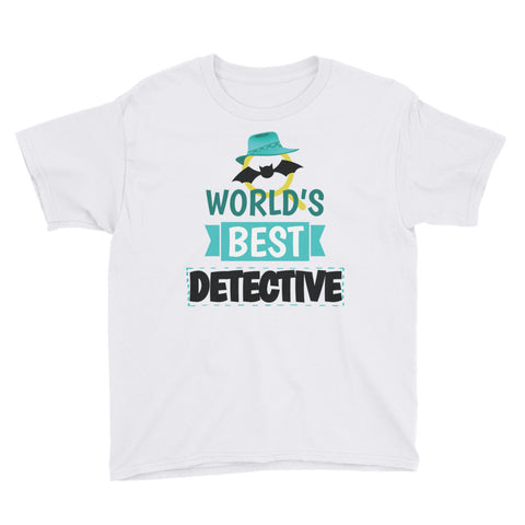 World's Best Detective Youth Short Sleeve T-Shirt - Code Pineapple