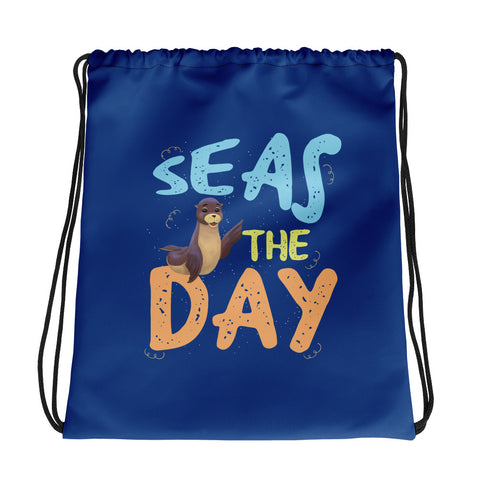 Seas The Day3 Drawstring bag - Code Pineapple