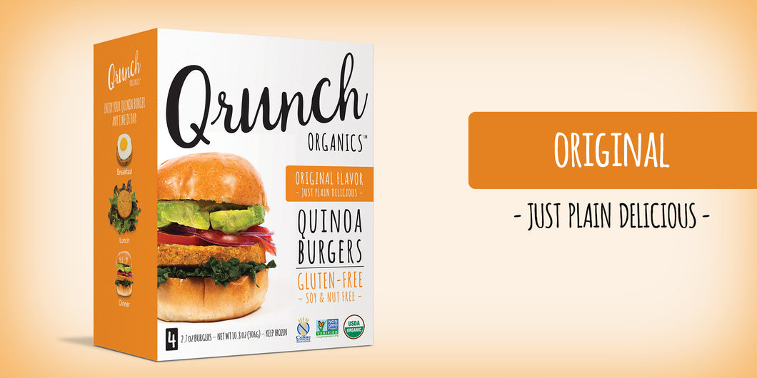 Qrunch Burger Original, 4 Pack, Case of 6