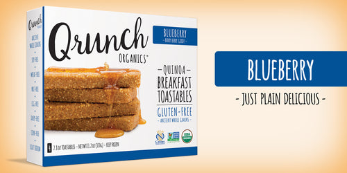Qrunch Toastables Blueberry, 4 Pack, Case of 6