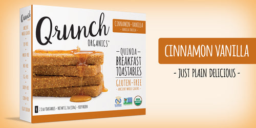 Qrunch Toastables Cinnamon Vanilla, 4 Pack, Case of 6
