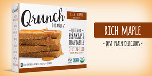 Qrunch Toastables Rich Maple, 4 Pack, Case of 6