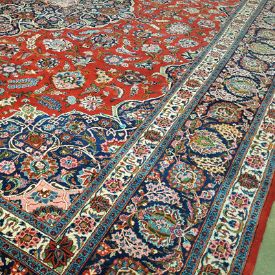 Signed-Antique-Persian-Kashan-Carpet-Richard-Afkari-Rugs-in-NYC
