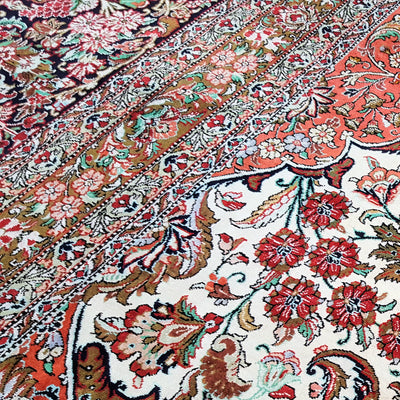 Signed-Silk-Medallion-Qum-Carpet-Richard-Afkari-Rugs-In-NYCSigned-Silk-Medallion-Qum-Carpet-Richard-Afkari-Rugs-In-NYC