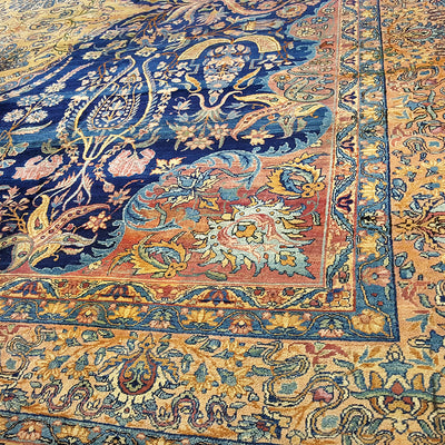 Kirman-Medallion-Square-Carpet-Richard-Afkari-Rugs-In-NYC