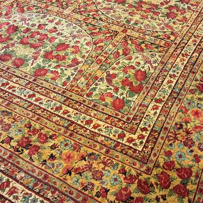 Signed-and-Dated-Kirman-Design-Wool-Carpet-Richard-Afkari-Rugs-In-NYC