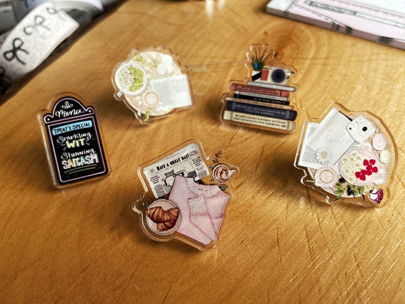 Acrylic Pins - Bookstagrammer