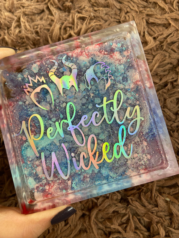 Perfectly Wicked Resin Coaster/Trinket Tray