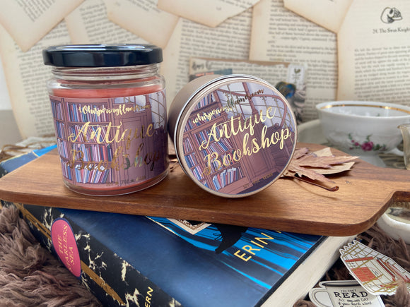 Antique Bookshop - 7oz Jars and 4oz tins