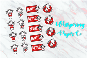 Netflix time - Planner stickers