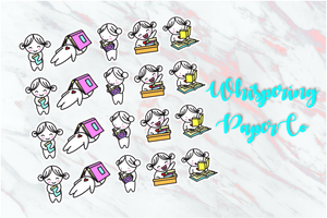 Study Set 2 - Planner stickers