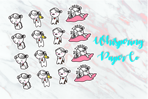 So Tired - Planner stickers