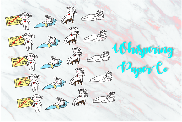 Lazy Day - Planner stickers