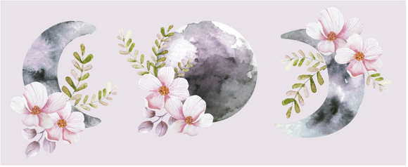 Watercolour Moons - Vinyl Sticker Bundle
