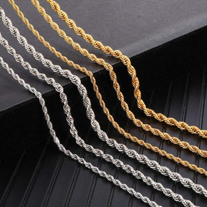3mm Gold Silver Stainless Steel Necklace - Jewelry and Accessories Trends