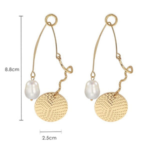 Sexy Exaggerated Circle Earrings Female Temperament Personality Long Earrings