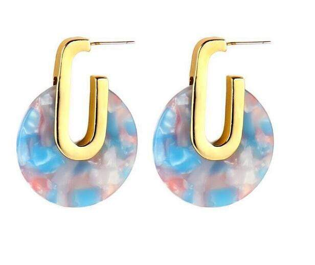Acrylic Geometric Drop Earrings - Jewelry and Accessories Trends