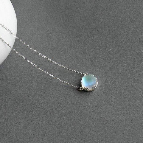 Aurora Pendant Necklace Halo Crystal Gemstone - Jewelry and Accessories Trends