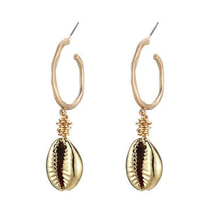 Handmade Natural Shell Drop Earrings - Jewelry and Accessories Trends
