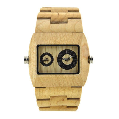 Men's Wood Watch New Quartz