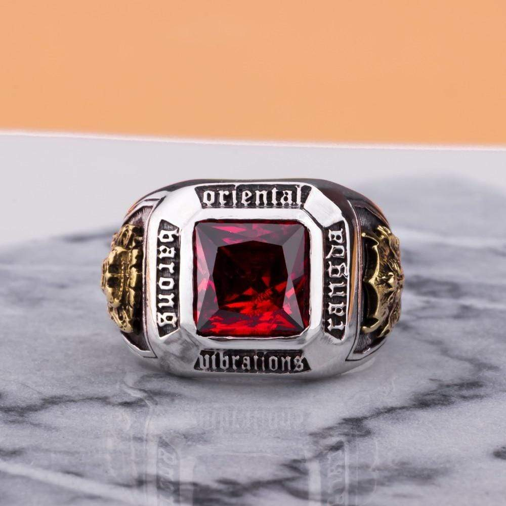 MetJakt Vintage Men's Ruby Ring - Jewelry and Accessories Trends