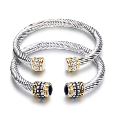 Multi Twisted Cable Wire Bracelet