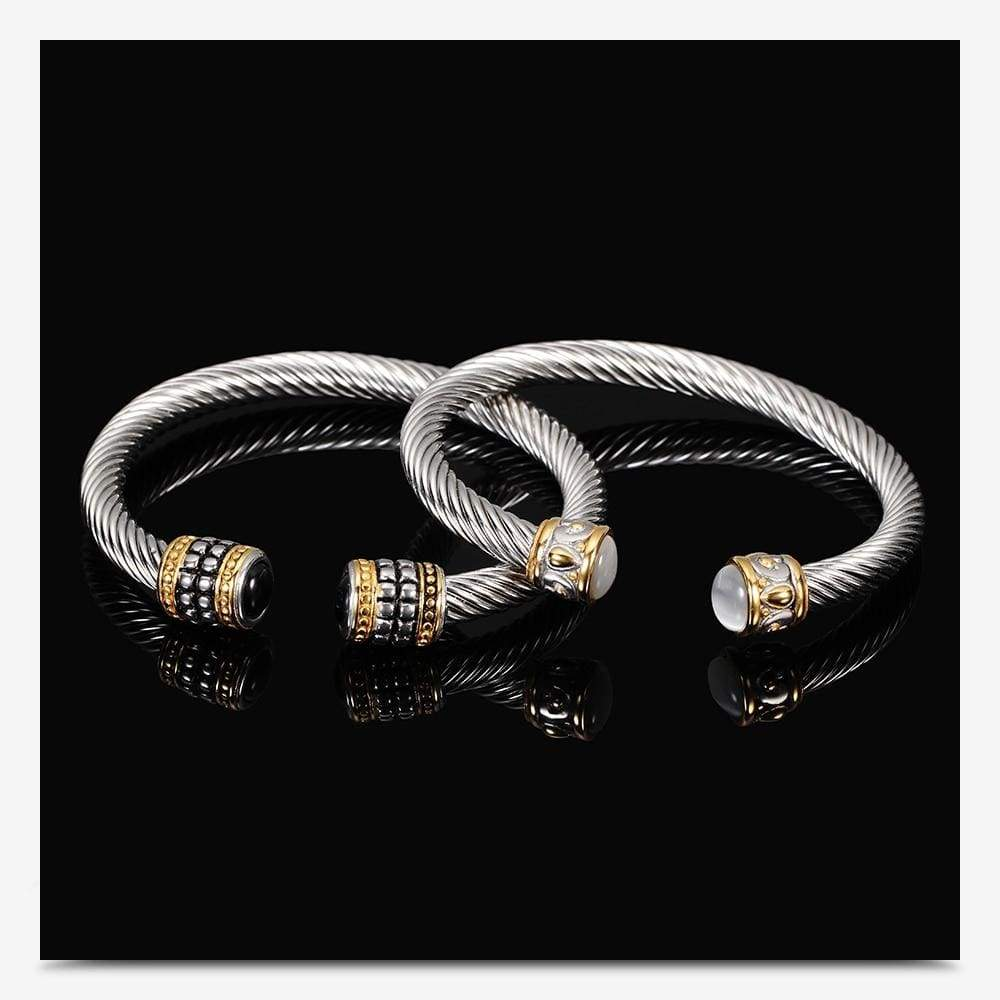 Multi Twisted Cable Wire Bracelet - Jewelry and Accessories Trends