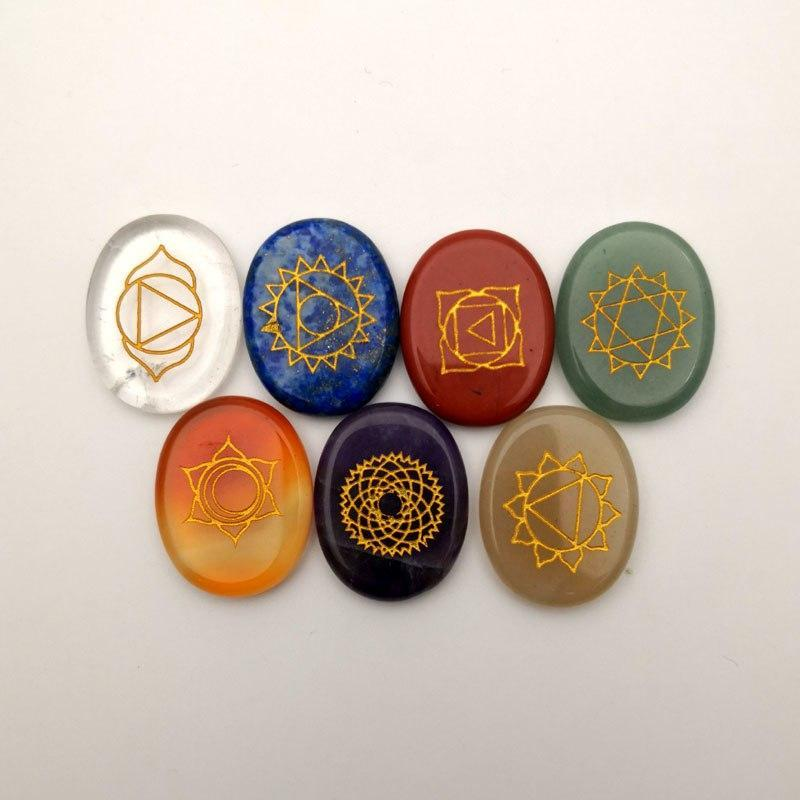 Natural Stone carved Chakra Pendant7 Chakra Stone - Jewelry and Accessories Trends