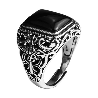 Real 925 Sterling Silver Vintage Rings For Men
