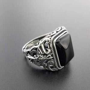 Real 925 Sterling Silver Vintage Rings For Men - Jewelry and Accessories Trends
