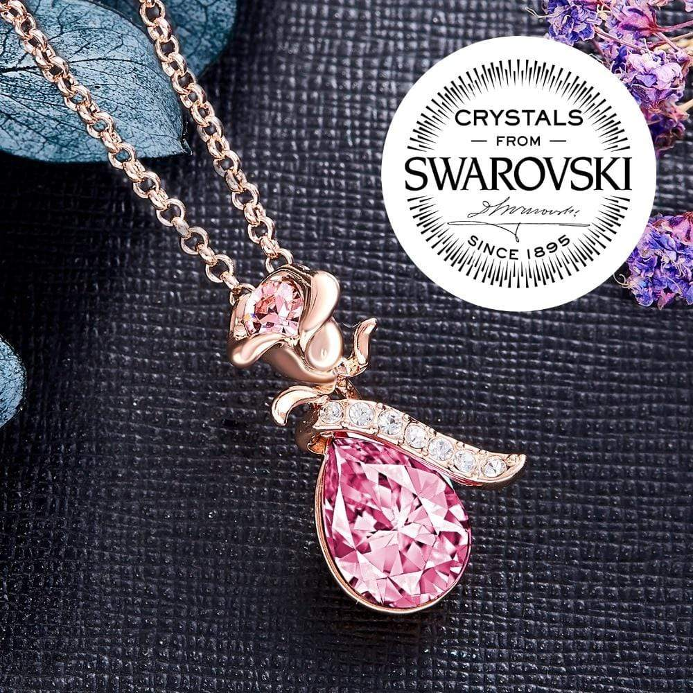 Rose Gold Necklaces Crystals from Swarovski - Jewelry and Accessories Trends