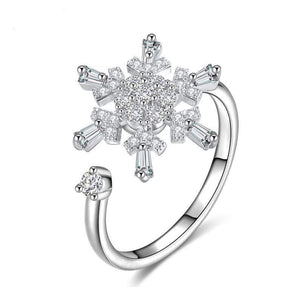 Rotating Zircon Opening Ring - Jewelry and Accessories Trends