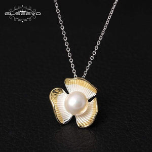 Sterling Silver Natural White Pearl Pendant Necklace - Jewelry and Accessories Trends