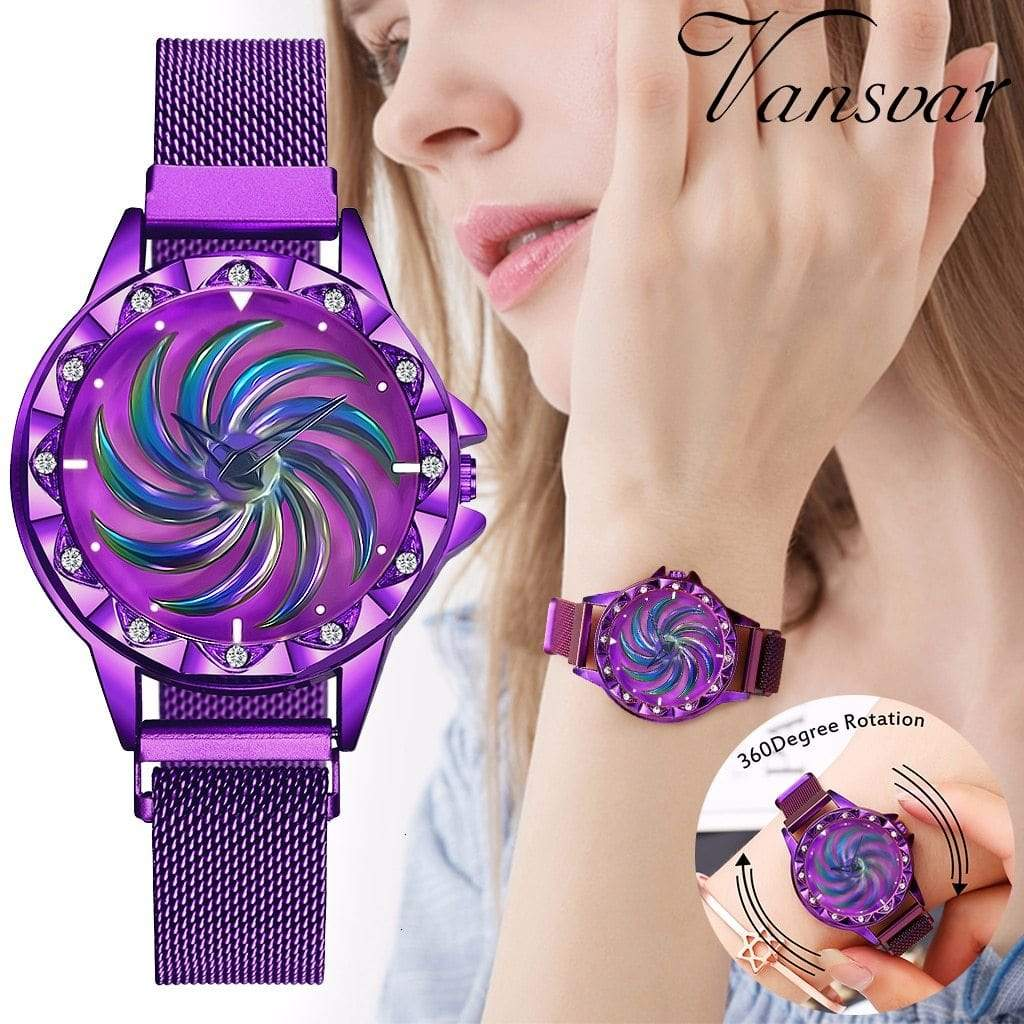 Women Magnet Buckle Rotating Luxury Watch - Jewelry and Accessories Trends