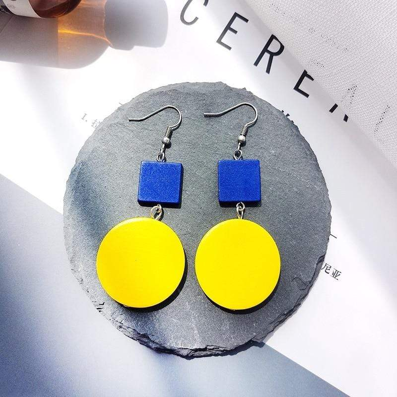 Women Round Beads Wooden Earrings - Jewelry and Accessories Trends
