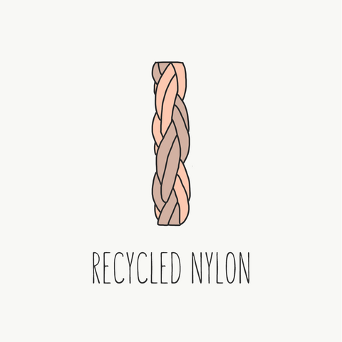 recycled nylon sustainable fabric guide loop swim