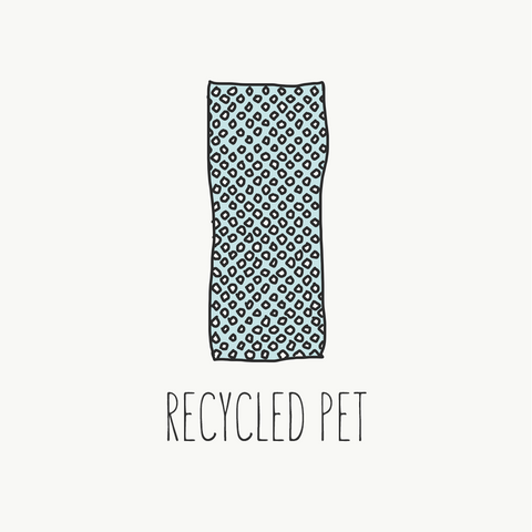 recycled PET sustainable fabric guide loop swim