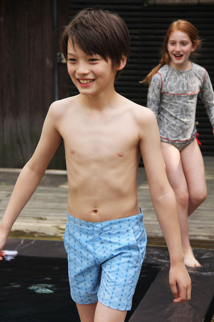 eco swimwear - sustainable swimsuit - Boys Gavin Short - Kaleidoscope-Loop Swim-Loop Swim