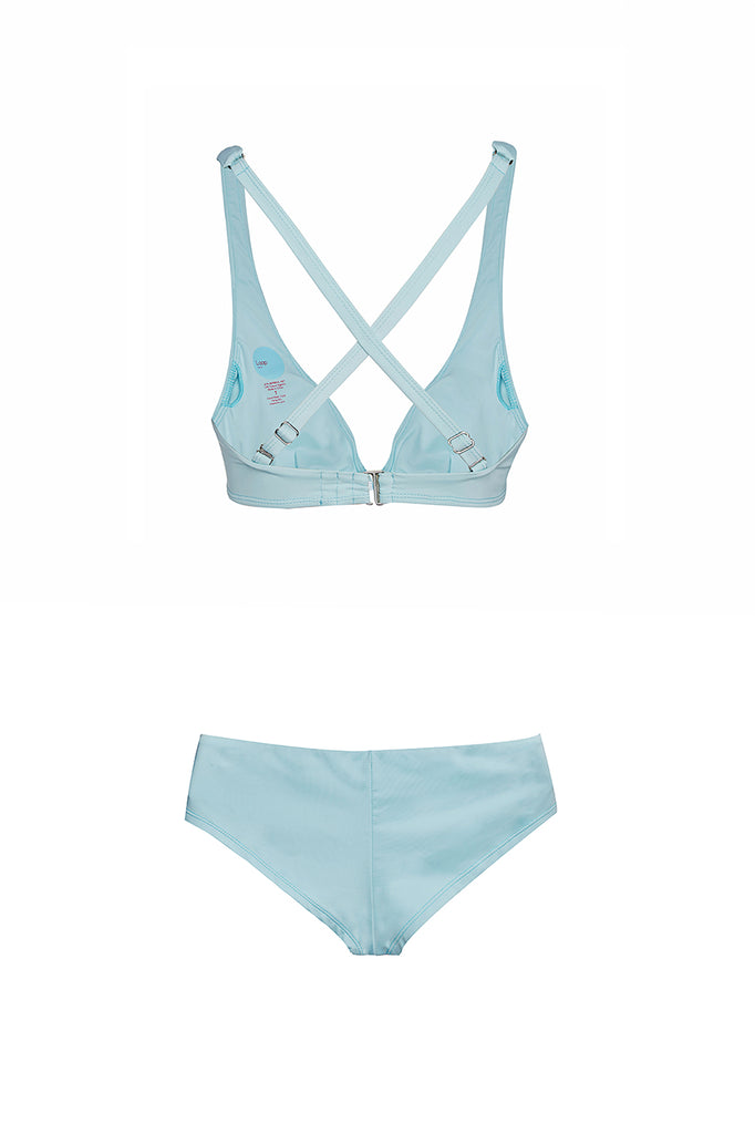 eco swimwear - sustainable swimsuit - Loop Blue Boy Short Bikini Bottom-Loop Swim-Loop Swim