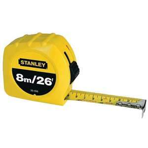 Stanley 8m/26' Tape Rule 30-456