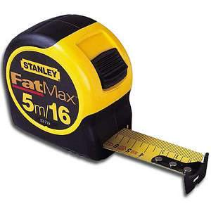 Stanley 5m/16' FatMax Metric/Fractional Tape Rule 33-719