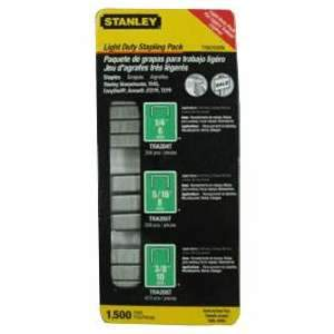 Stanley Light Duty Staples (1500-pc multi-pack) TRA200BN