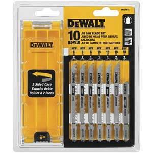 DeWalt, 10-pc T-Shank Jig Saw Blade Set DW3741C