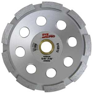 DYR 5' Super Pro Double Segmented Diamond Cup Wheel 016813