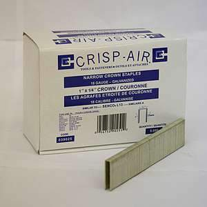Crisp-Air, 1'' x 1/4'' Narrow Crown Staples, 039025