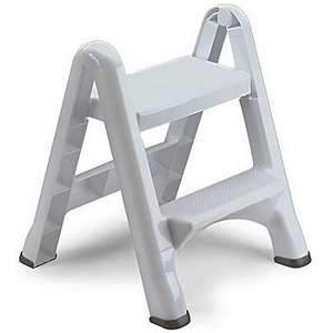 Rubbermaid EZ Step Folding Step Stool (White) 4209