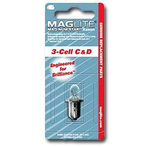 Maglite, LMSA301 Replacement Bulb for use w/ C and D 3-Cell Maglites 053200200