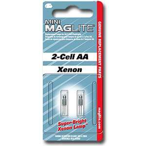 Maglite, SP2201HJ 2Pk Replacement Bulbs for use w/ Mini Mag AA or AAA 2-Cell Maglites 053202620